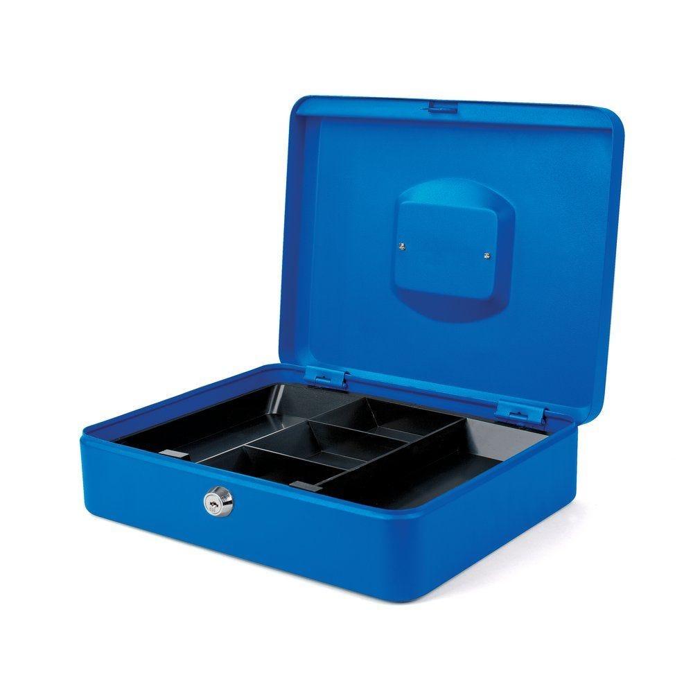 Coffre à monnaie bleu l.33xp.23.5xh.9 cm (photo)