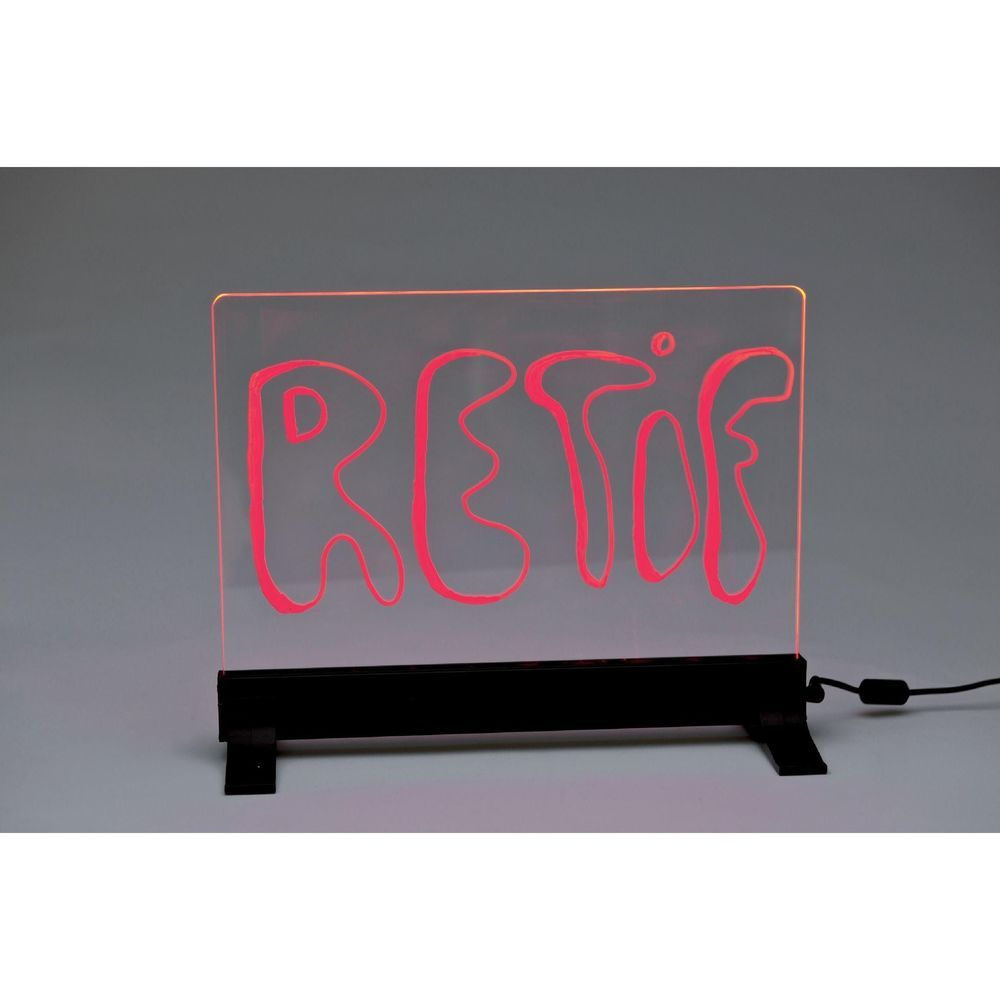 Panneau multicolor à poser ou suspendre - 21 x 23 cm + 2 marqueurs (photo)