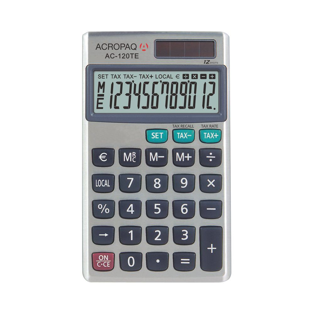 Calculatrice de poche AC 120 TE 12 chiffres (photo)