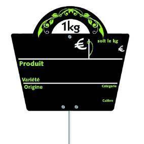 Etiquette panier ardoise avec pic 16x14cm - par 10 (photo)