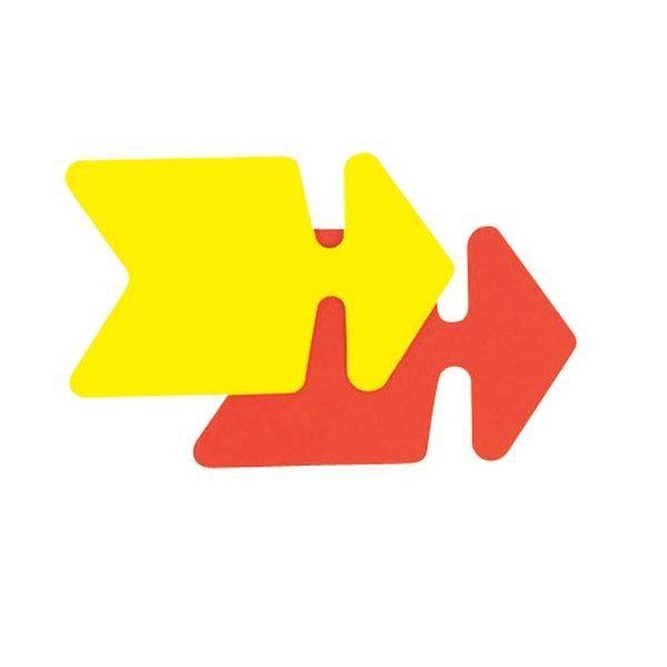 Flèche jaune/orange double face 24x16cm - par 25 (photo)