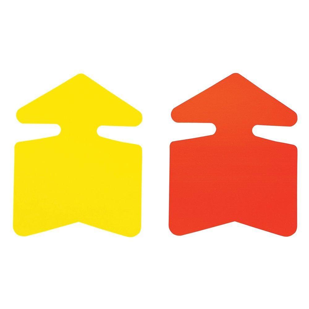 Flèche jaune/orange double face 32x24cm - par 25 (photo)