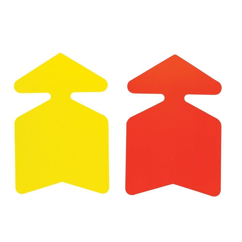Flèche jaune/orange double face 48x32cm - par 10 (photo)