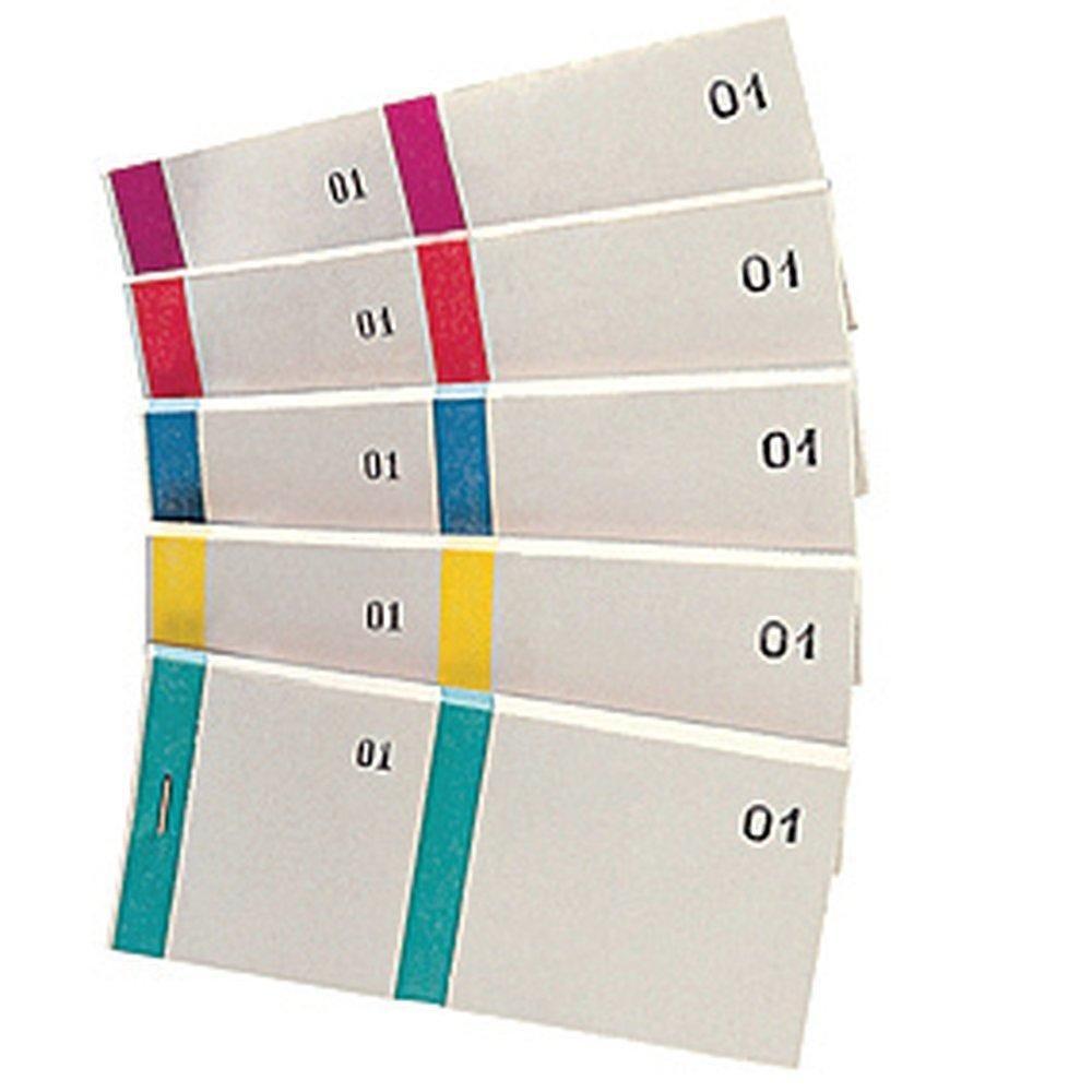 Bloc vendeur numéroté 135 x 66 mm - x 10 couleur  assortis (photo)