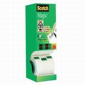 Adhésif Scotch Magic 19mm x 33m - 7 rouleaux + 1 Gratuit (photo)