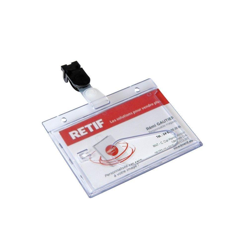 Badge de sécurité à pince 6 x 9cm - par 25 (photo)