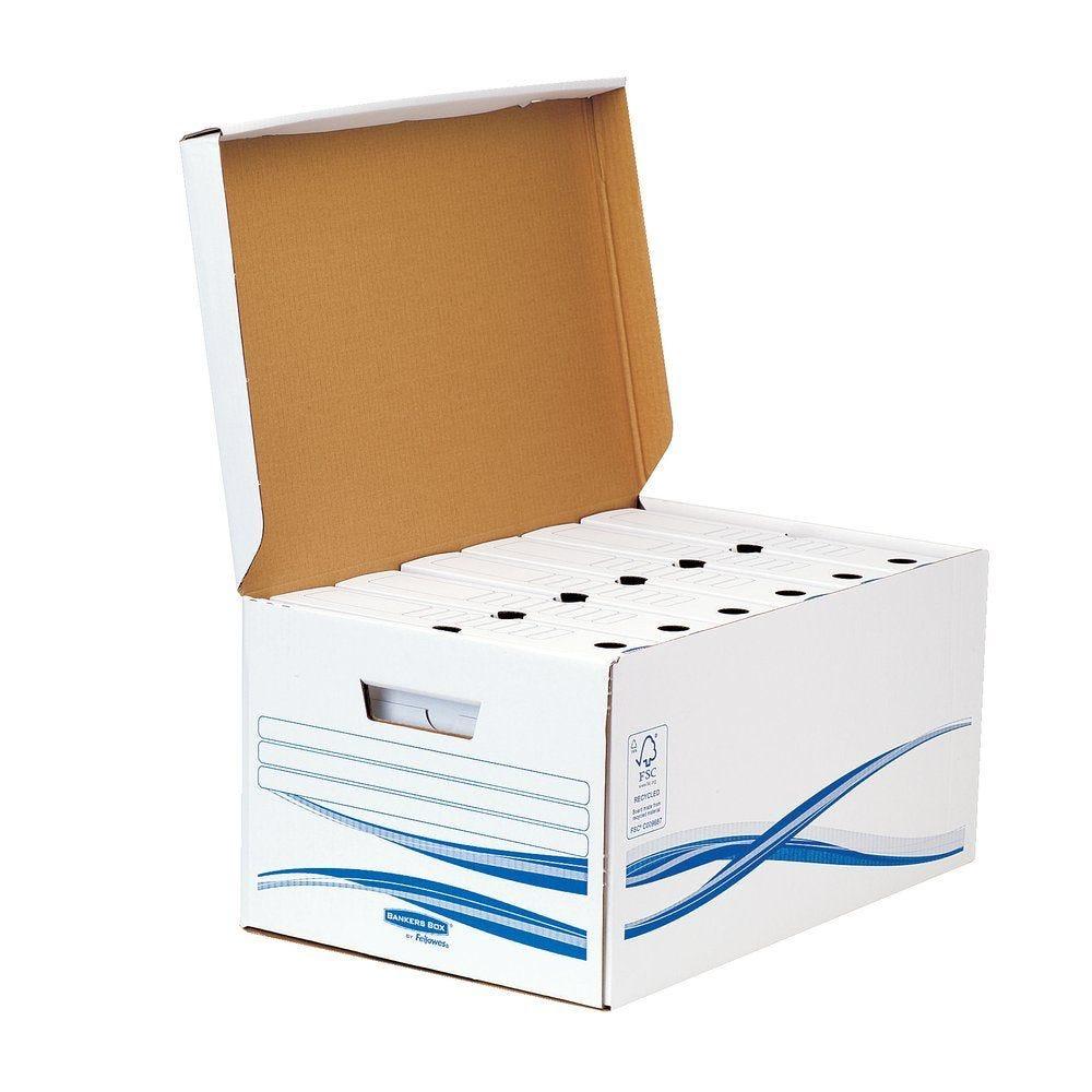 Conteneur + 6 boites archives A4 dos 8cm