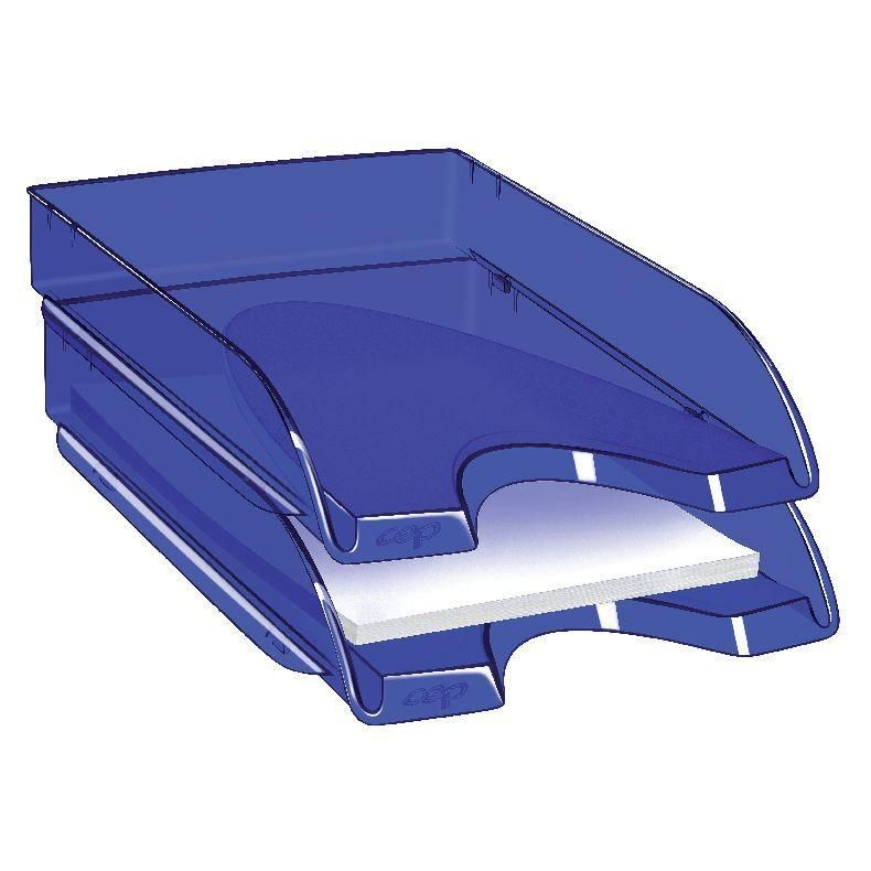 Corbeille courrier bleue Fusion 25.4x35x6.1cm (photo)