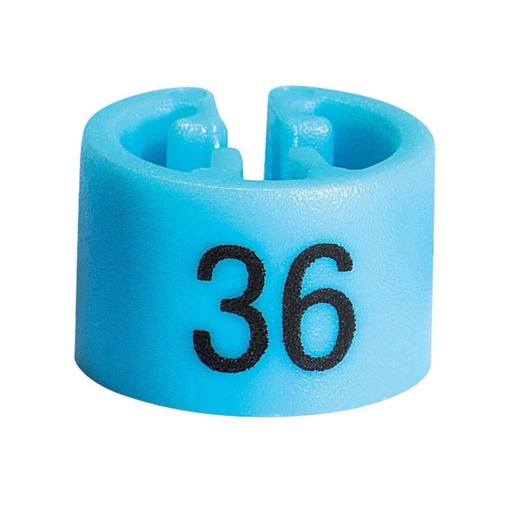 Marque taille 36 bleu clair par 50 (photo)