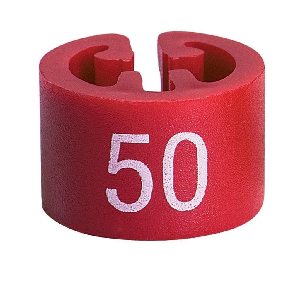 Marque taille 50 rouge par 50 (photo)