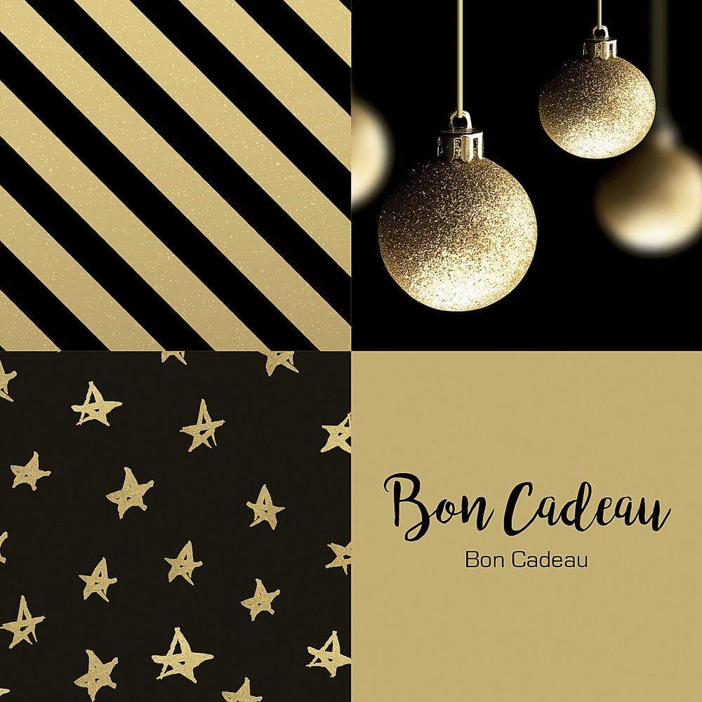 Bon cadeau Chic noir et or par 12 (photo)