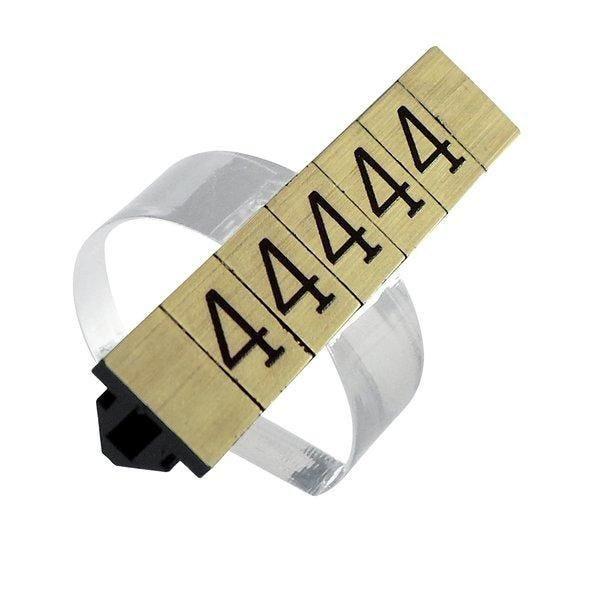 Support prix 1cm demi-lune transparent par 20 (photo)