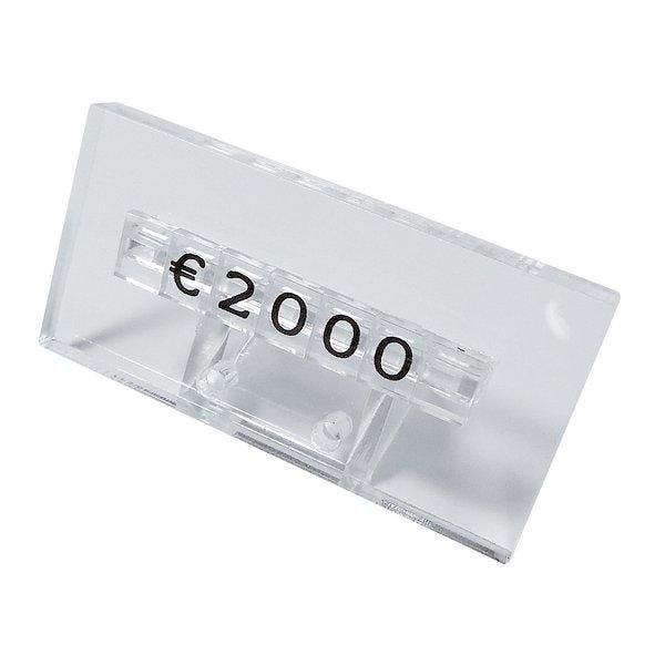 Support prix 0.5cm transparent 5x2cm par 20 (photo)