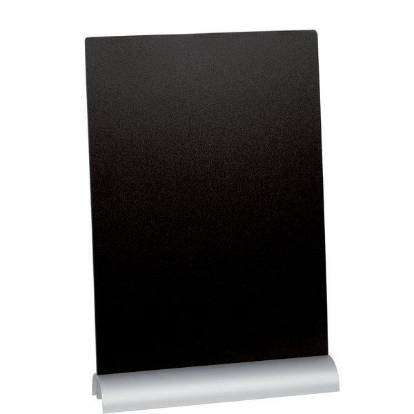 Ardoise de table A4 pied aluminium + feutre craie (photo)