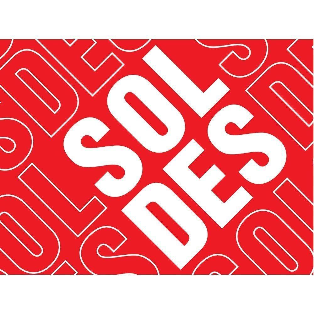 Affiche soldes 60x 40 cm rouge (photo)