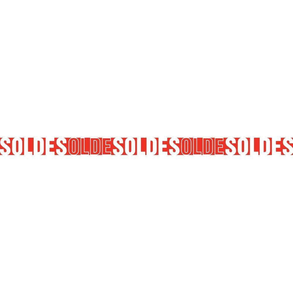 Affiche soldes 172x10 cm rouge TRADITIONNEL PAPIER (photo)