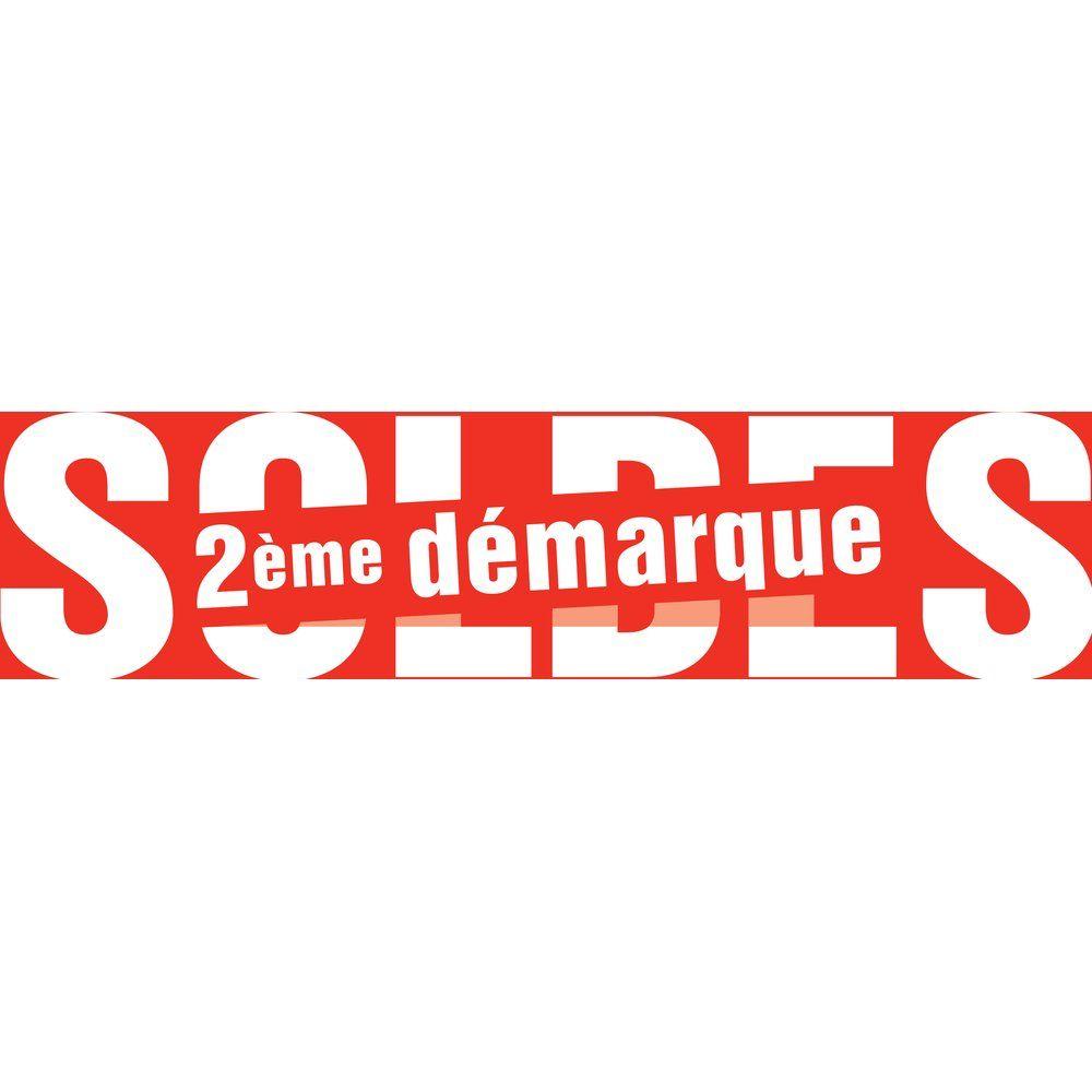 Affiche soldes 80x20 cm 2ème démarque rouge (photo)