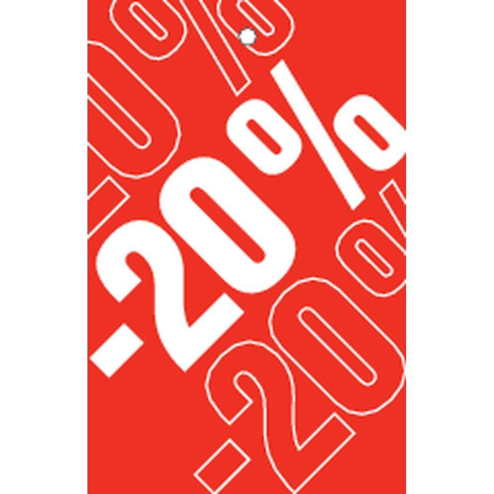 Etiquette à trou -20% Soldes Tradition rouge 55x85mm par 250 (photo)