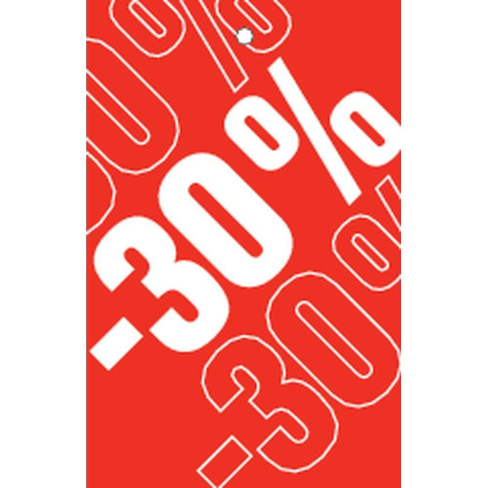 Etiquette à trou -30% Soldes Tradition rouge 55x85mm par 250 (photo)