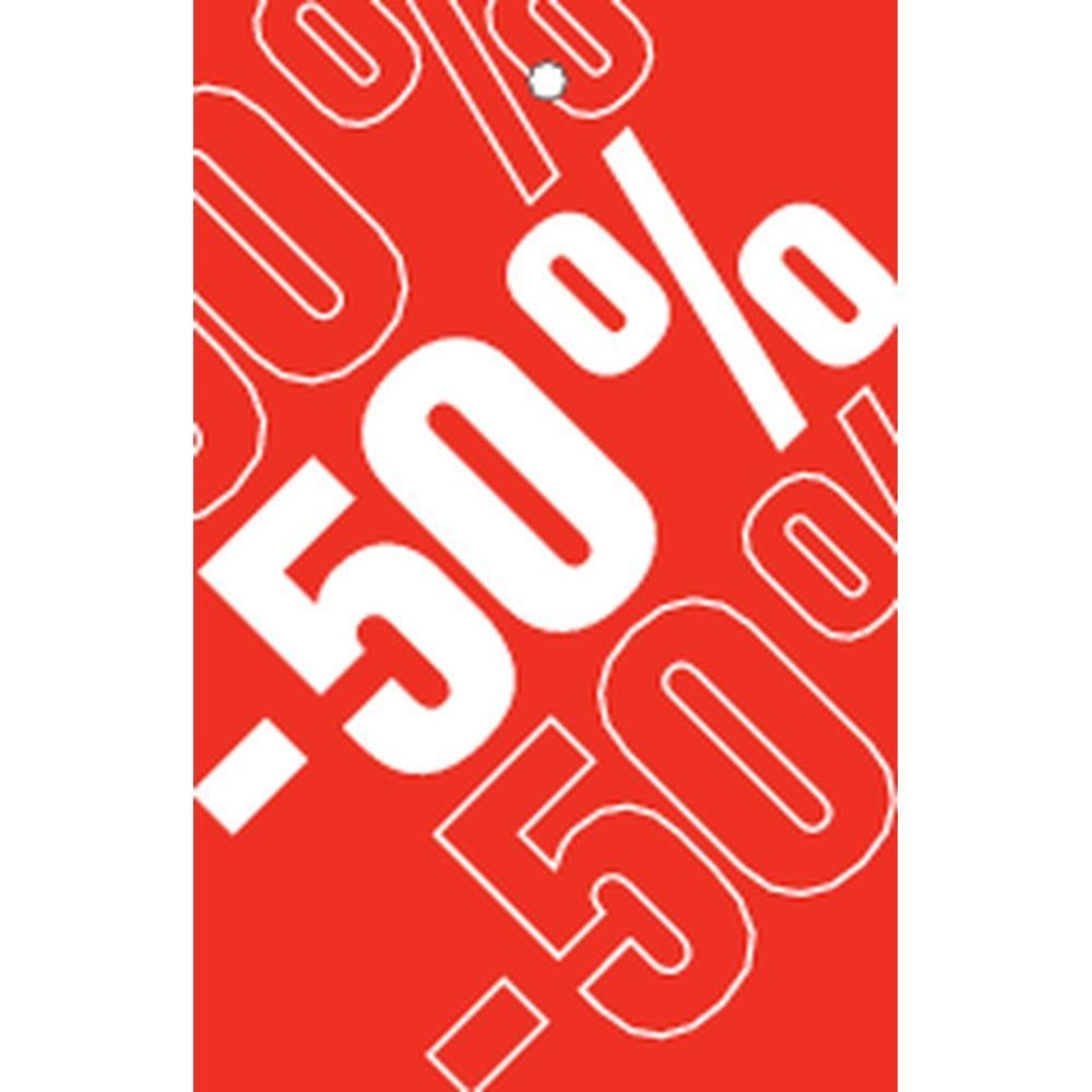 Etiquette à trou -50% Soldes Tradition rouge 55x85mm par 250 (photo)