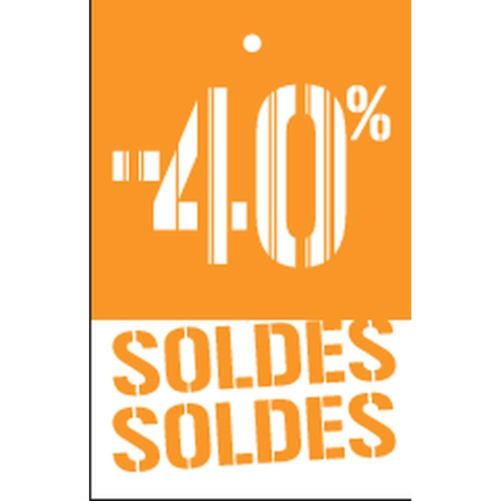 Etiquette à trou -40% Soldes Gencod orange 55x85mm par 250 (photo)