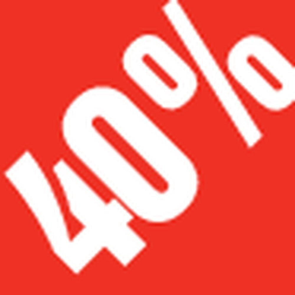 Sticker remise -40% .3x3.3cm rouge /blanc x500 (photo)