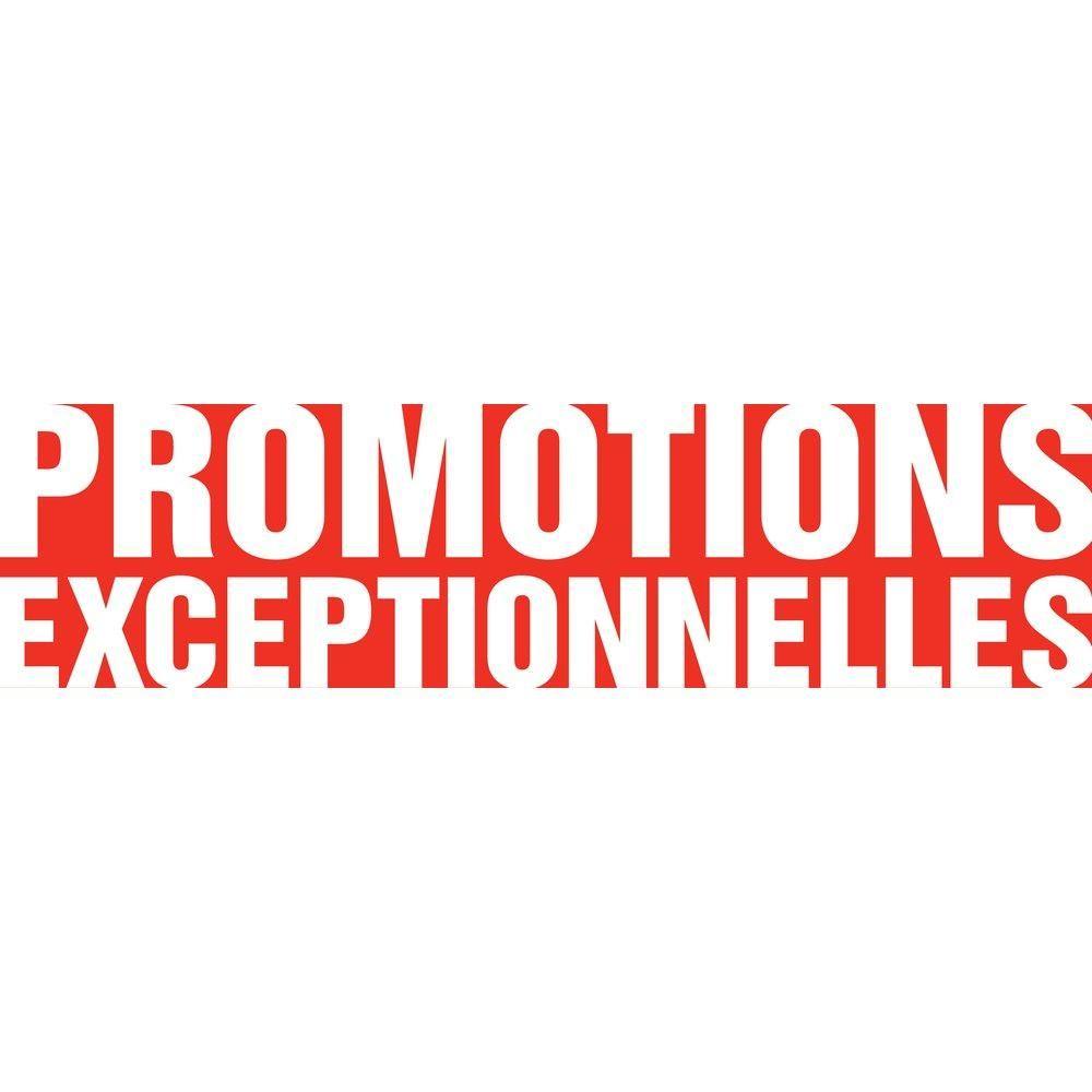 Affiche promotions exceptionnelles 120x 30 cm blanche (photo)