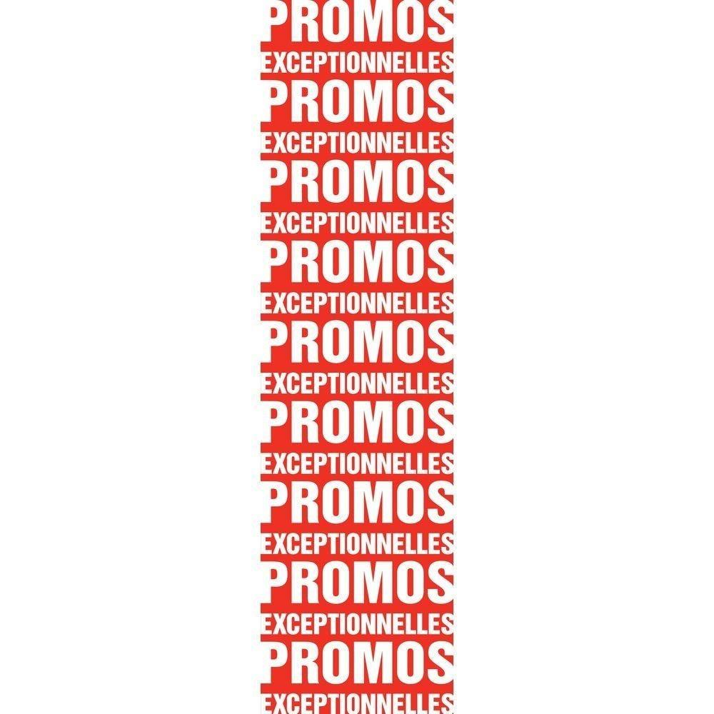 Affiche promotions exceptionnelles 30x 115 cm blanche (photo)