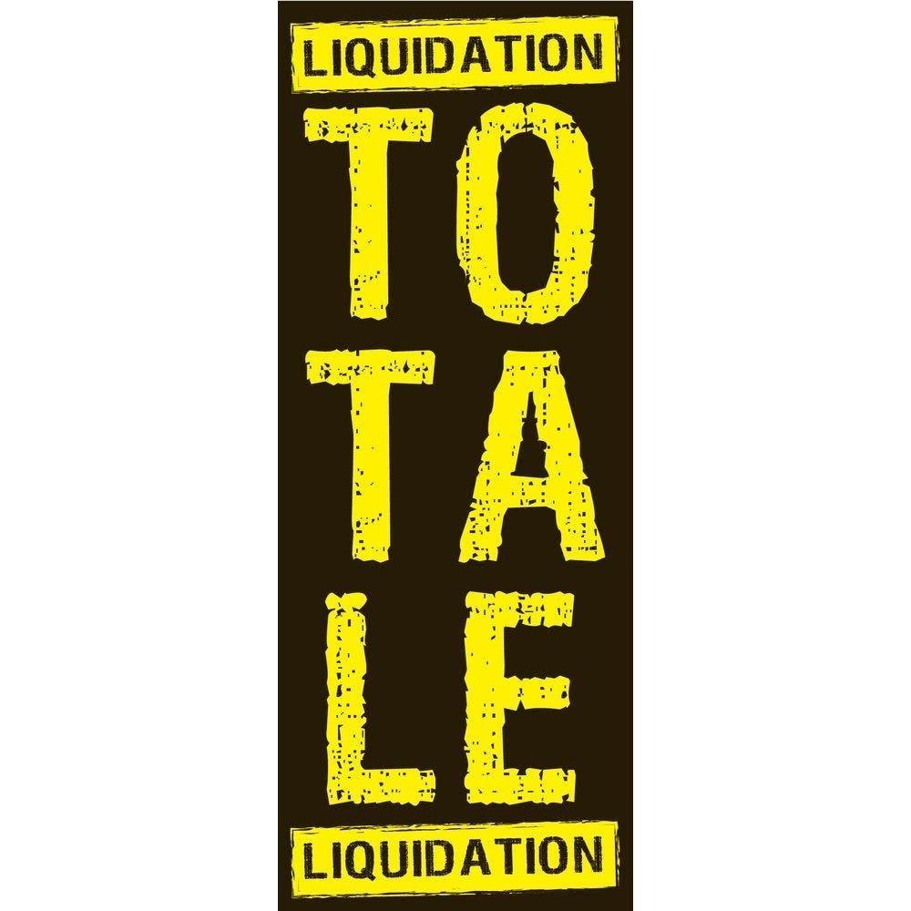 Affiche liquidation totale 82x 30 cm noir/jaune (photo)