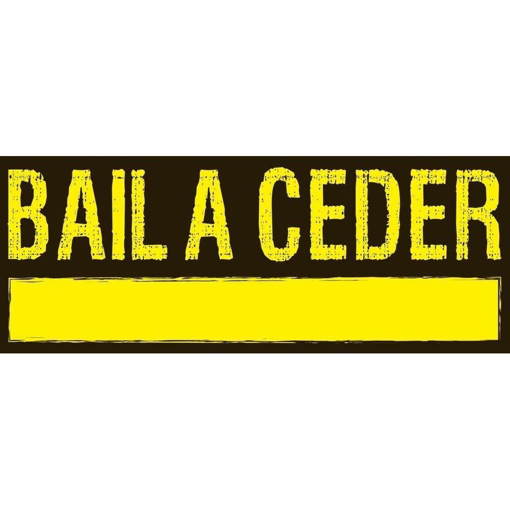 Affiche bail à ceder 82x 30 cm noir/jaune (photo)