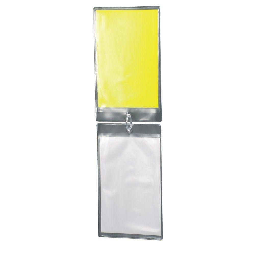 Etui porte affiche soudée à suspendre translucide 175x110mm par 20 (photo)