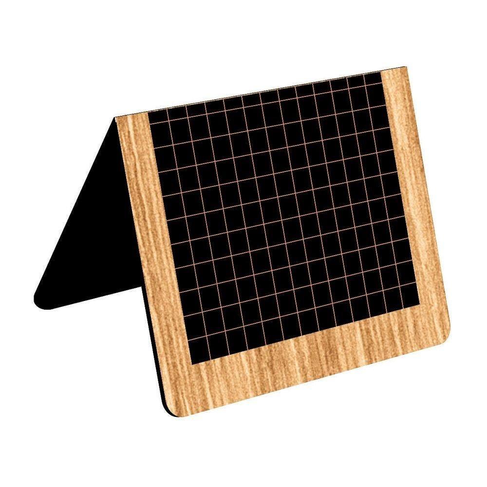 Chevalet de table d'antan x 10 noirs  plastique noir 6.5x5x1 (photo)