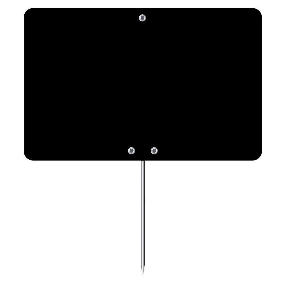 Etiquette à pique noire L.12 x H.8 cm par 10 (photo)