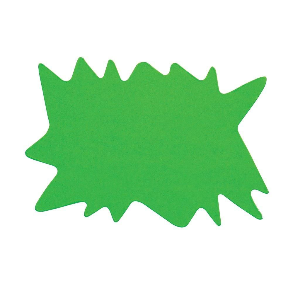 Eclatés verts double face 8 x 12 cm par 50 (photo)