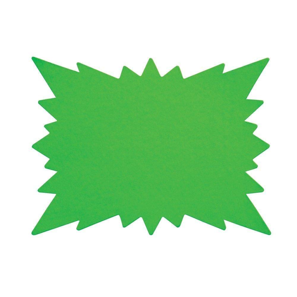 Eclatés verts double face en 16 x 24cm par 25 (photo)