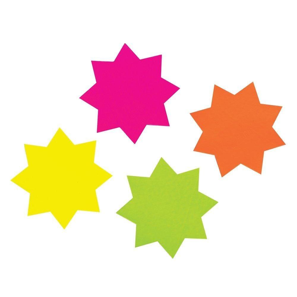Eclatés étoiles dia.106mm double face 4 coloris assortis par 40 (photo)