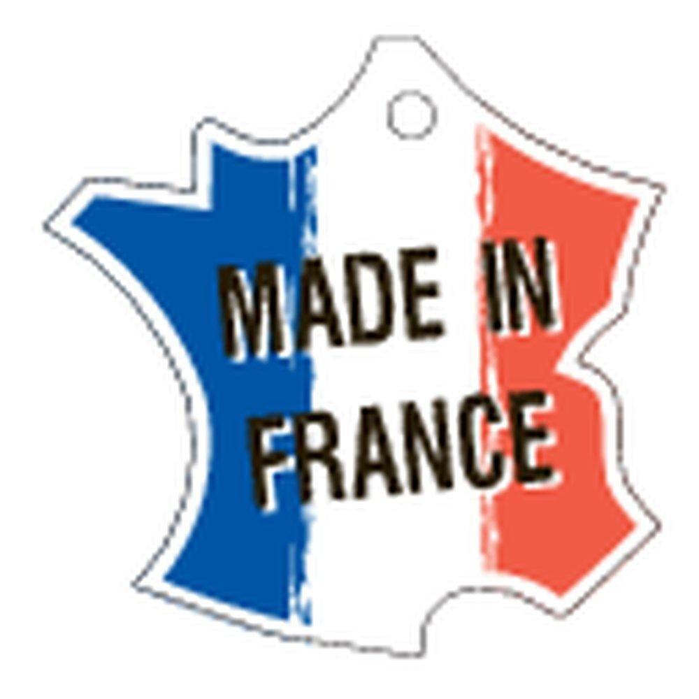 Etiquette 'Made in France' à fil 40x40mm paquet de 50 (photo)