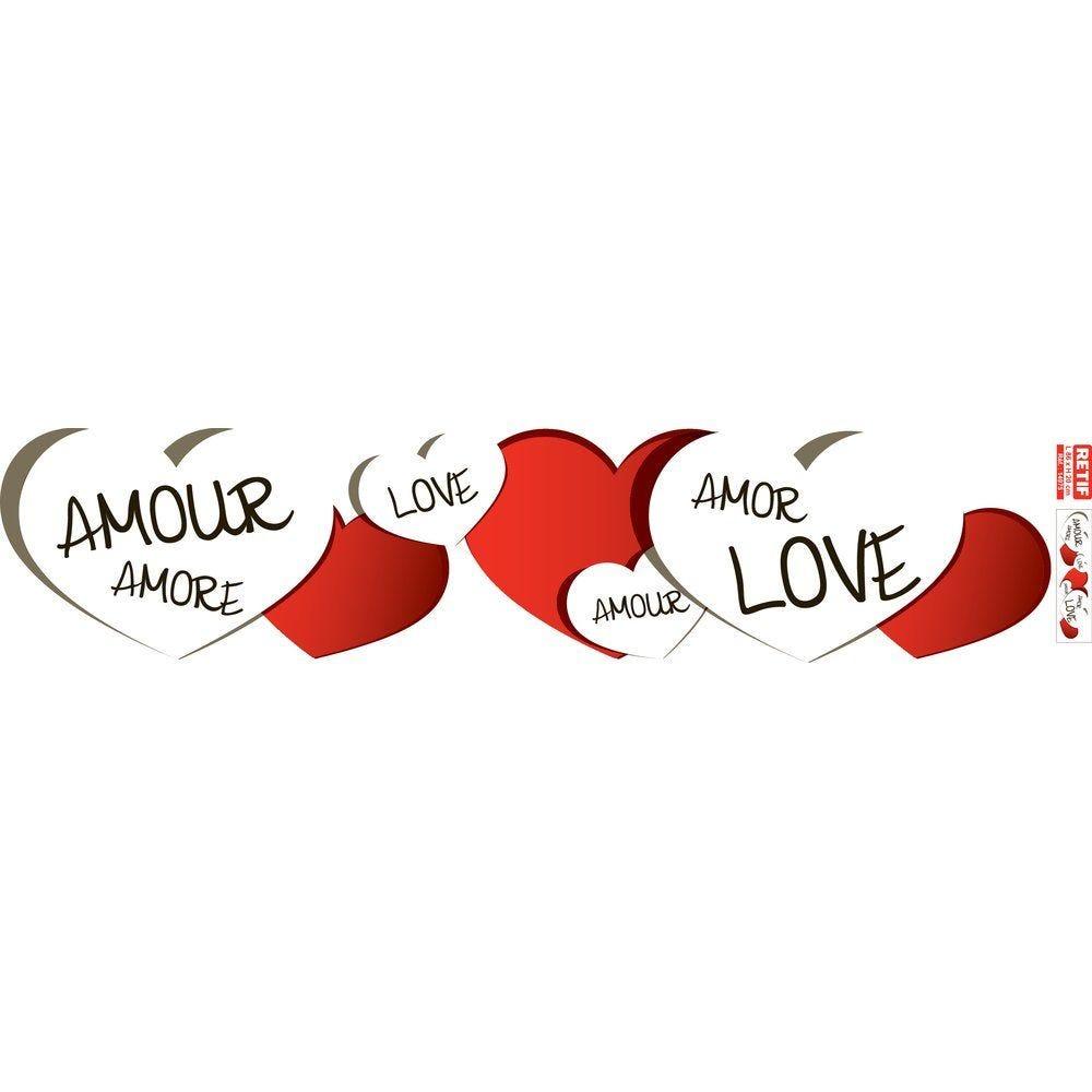 Affiche st valentin  86x20 cm recto  PAPIER BLANC PAR 1 (photo)