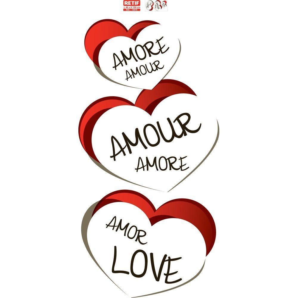 Guirlande st valentin 95x50 cm recto/verso  PAPIER BLANC PAR 1 (photo)