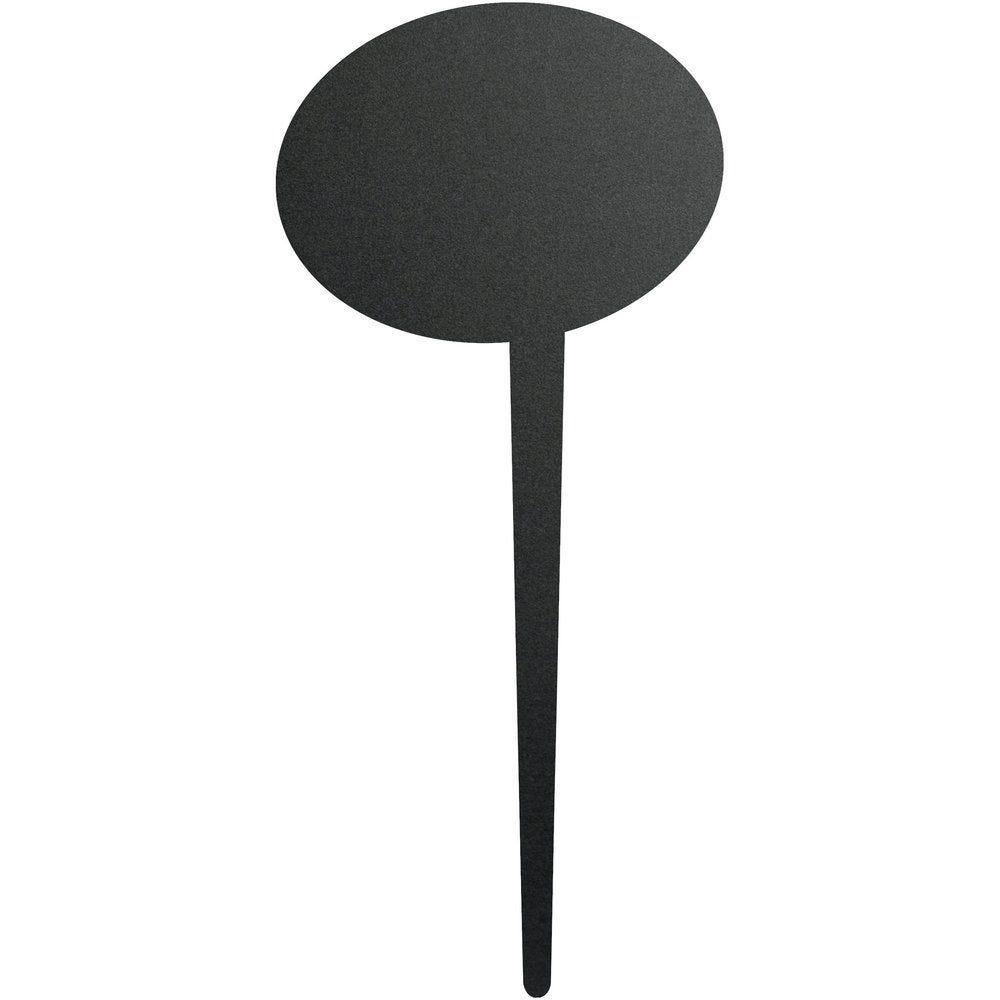 Ardoise silhouette 'bulle' à pique avec feutre craie 7x18cm par 5 (photo)