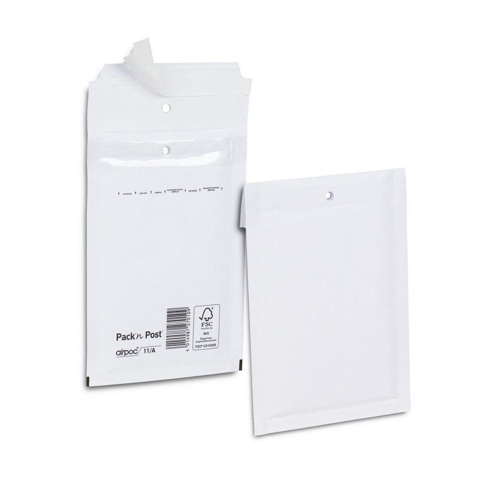 Enveloppe bulle kraft blanche 14x21.5 cm X100 (photo)