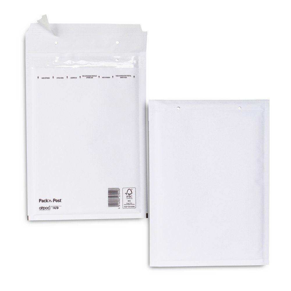 Enveloppe bulle kraft blanc 17x26.5 cm X100 (photo)