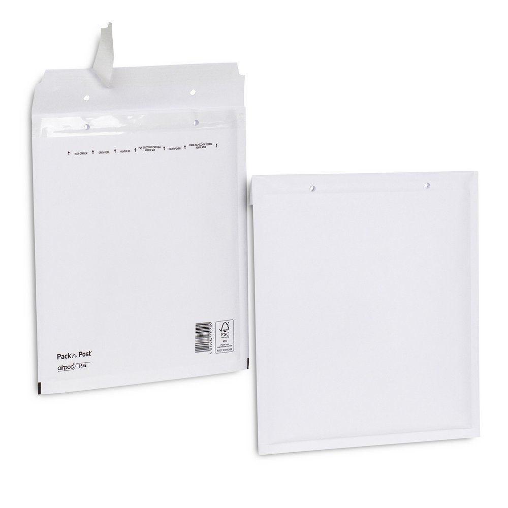 Enveloppe bulle kraft blanche 21x26.5 cm X100 (photo)