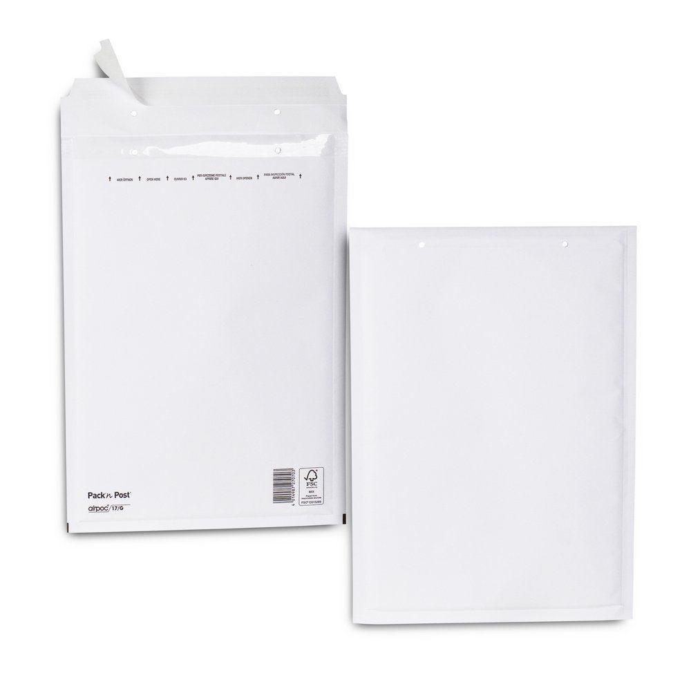 Enveloppe bulle kraft blanche23x33.5 cm X100 (photo)