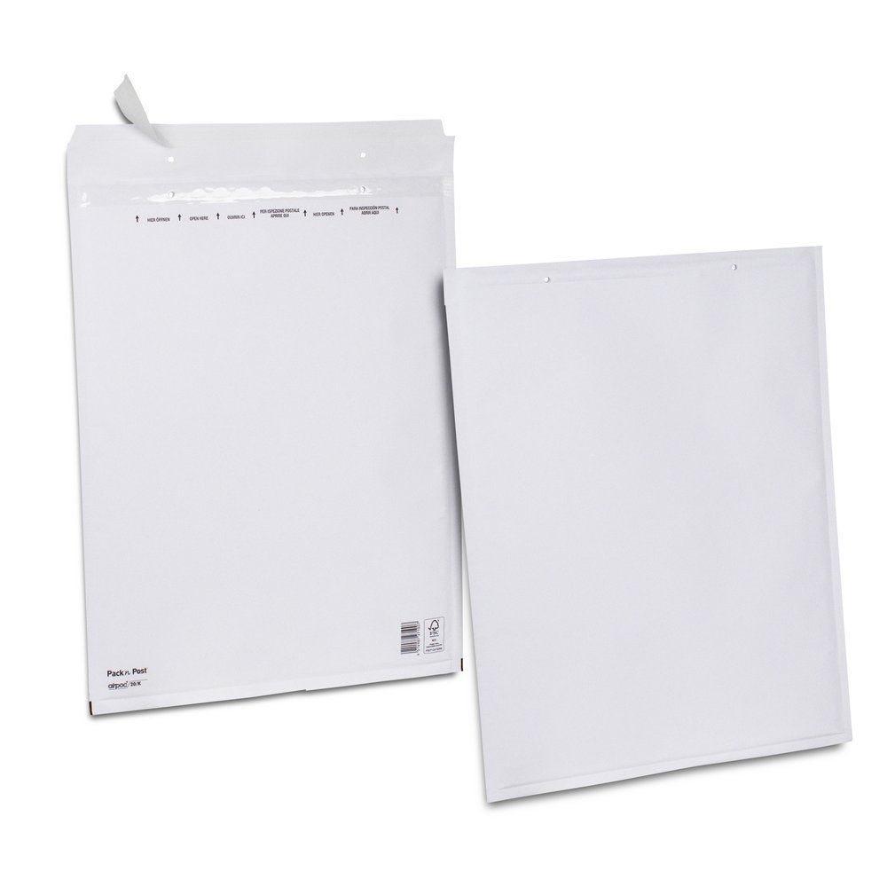 Enveloppe bulle kraft blanche 35x47 X50 (photo)