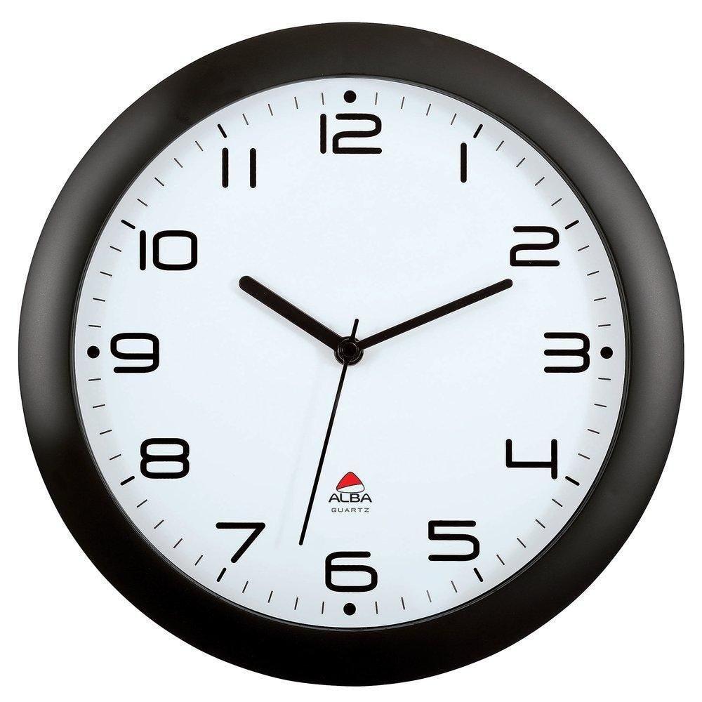 Horloge murale 30 cm noire quartz silencieuse (photo)