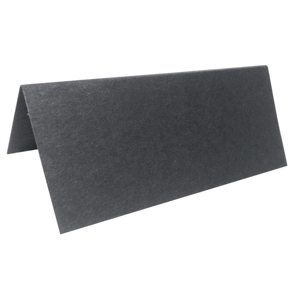 Etiquettes chevalet x 120 noir mat 8x7 cm (photo)