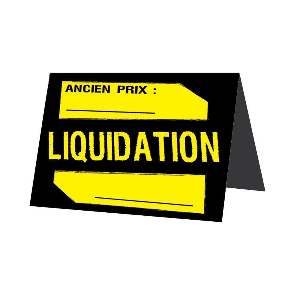 Etiquette chevalet liquidation 52x119mm - par 500