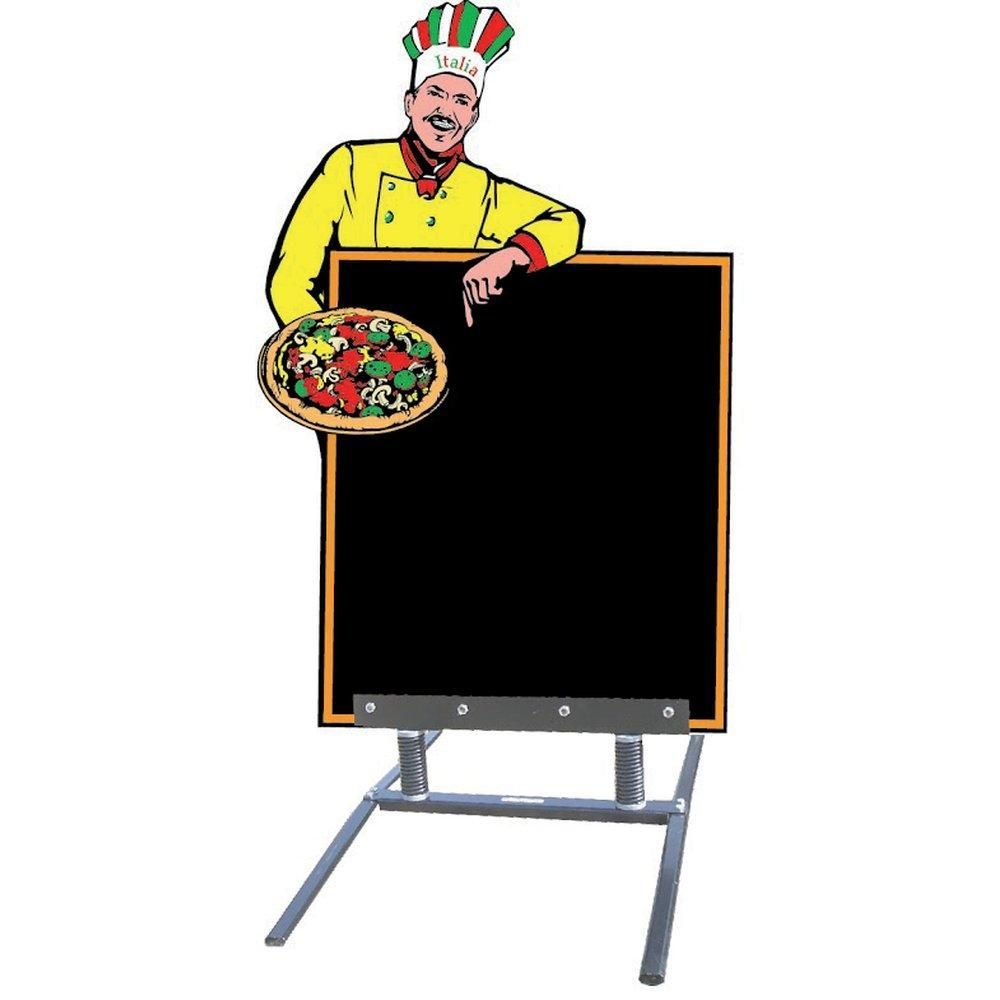 Chevalet ardoise pizza avec pied 140x80 cm (photo)