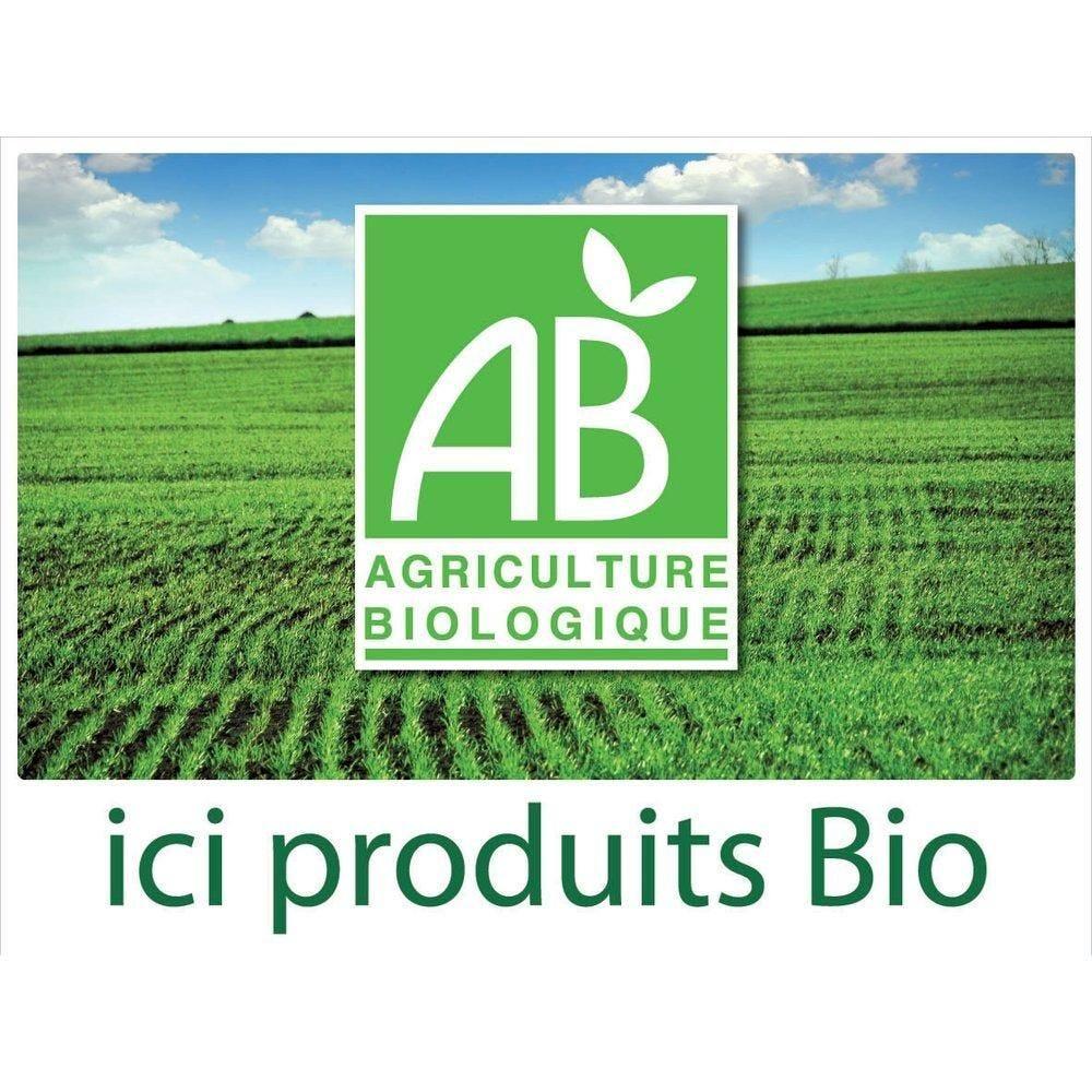Panneau 'Ici produits bio' avec fil nylon 40x30 cm (photo)